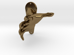 Child size hand in Polished Bronze