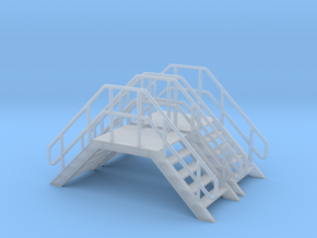 HO 2x Crossover Stairs in Smooth Fine Detail Plastic