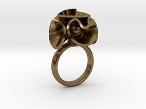 Anello Fiore Palla 3 Spes 1 in Polished Bronze