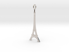 Eiffel Tower Pendant in Platinum