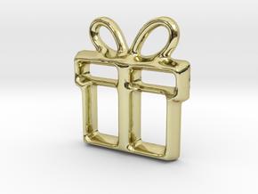 Present Pendant in 18k Gold