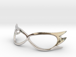 Sailor-V 1/3 scale Mask for BJD in Rhodium Plated Brass
