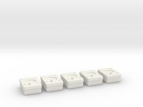 1/18 USN Gauges Lv1 in White Natural Versatile Plastic