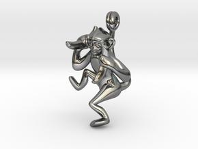 3D-Monkeys 214 in Fine Detail Polished Silver