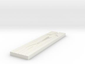 Jerk Bait mold A in White Strong & Flexible