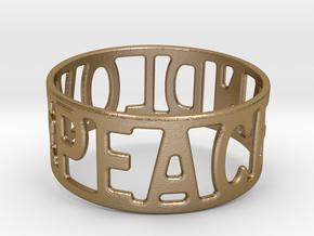 Peaceandlove 65 Bracelet in Polished Gold Steel