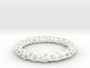 Bracelet Voronoi in White Processed Versatile Plastic