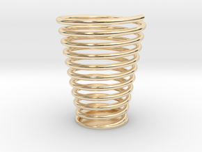 螺旋筆筒 in 14K Gold
