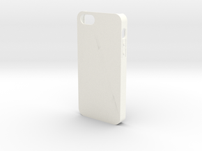 Customizable iPhone 5 case in White Processed Versatile Plastic