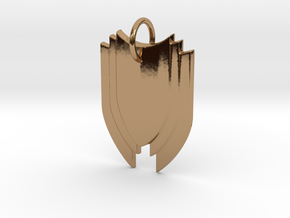 Shield in Polished Brass