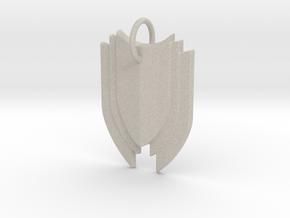 Shield in Natural Sandstone