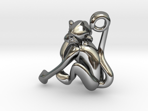 3D-Monkeys 246 in Fine Detail Polished Silver