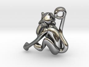 3D-Monkeys 246 in Fine Detail Polished Silver
