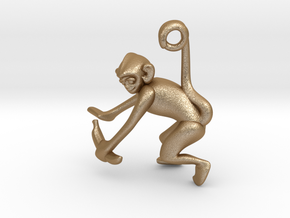 3D-Monkeys 248 in Matte Gold Steel