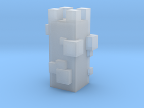 Cubic Chess - Rook in Smooth Fine Detail Plastic