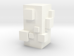 Cubic Chess - Pawn in White Processed Versatile Plastic