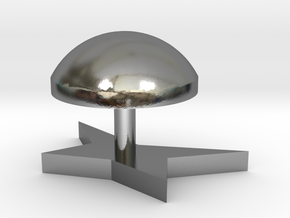 Corners modeling lamp in Polished Silver
