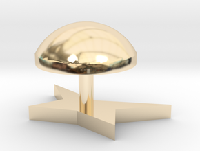 Corners modeling lamp in 14k Gold Plated Brass