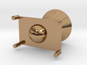 Rocket modeling trash in Polished Brass