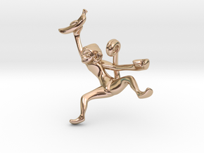 3D-Monkeys 275 in 14k Rose Gold Plated Brass