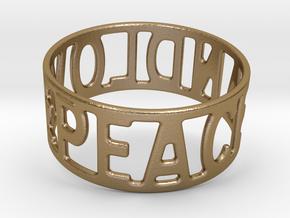 Peaceandlove 70 Bracelet in Polished Gold Steel