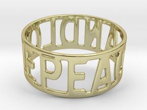 Peaceandlove 72 Bracelet in 18k Gold