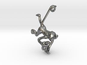 3D-Monkeys 281 in Fine Detail Polished Silver