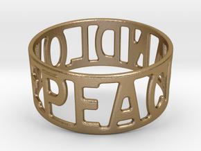 Peaceandlove 75 Bracelet in Polished Gold Steel