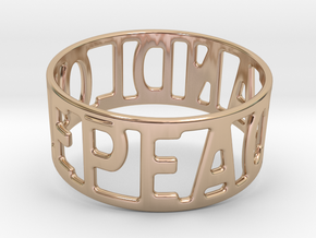 Peaceandlove 78 Bracelet in 14k Rose Gold Plated Brass