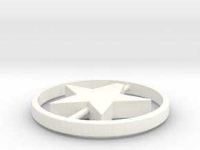 104102206蔡瀚強星星吊飾 in White Strong & Flexible Polished