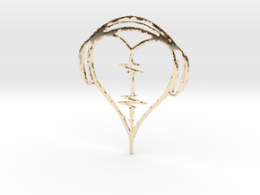 Musical Heart Pendant in 14k Gold Plated Brass