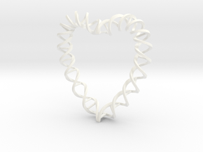 DNA Heart in White Processed Versatile Plastic
