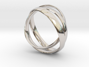 Rings in Rhodium Plated Brass