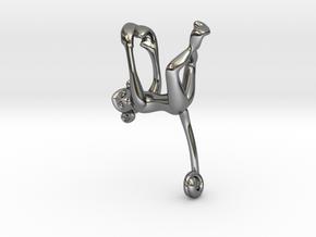 3D-Monkeys 292 in Fine Detail Polished Silver