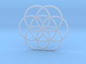 Flower of Life - Hollow in Smoothest Fine Detail Plastic