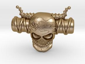 SKULL in Polished Gold Steel
