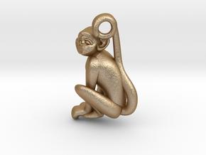 3D-Monkeys 333 in Matte Gold Steel