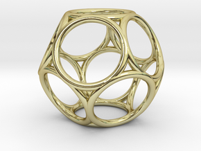 Truncated Dodecahedron in 18k Gold Plated Brass