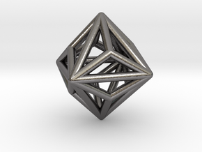 0328 Small Triakis Octahedron E (a=1cm) #001 in Polished Nickel Steel