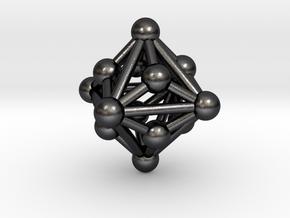 0330 Small Triakis Octahedron V&E (a=1сm) #003 in Polished Grey Steel