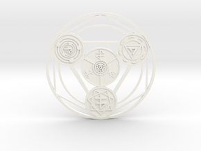 Alchemical Circle of Light in White Strong & Flexible Polished