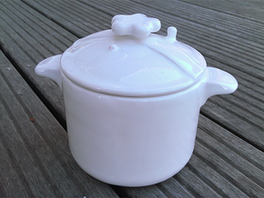 Pressure Cooker Bowl in Gloss White Porcelain