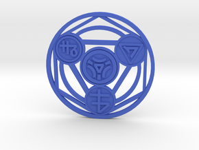 Alchemical Circle of Light - Small Version in Blue Processed Versatile Plastic