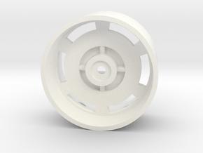 EX 1 KIY Kopropo Steering Wheel Standard Size in White Processed Versatile Plastic
