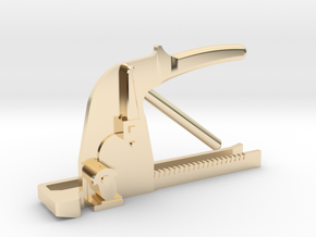 Push-bar Tie-Clip in 14k Gold Plated Brass