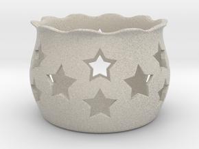 Tea Light Holder Star in Natural Sandstone