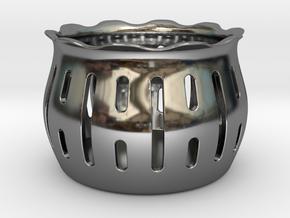 Tea Light Holder Line in Fine Detail Polished Silver