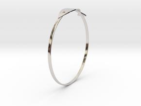 魚手環 in Rhodium Plated Brass