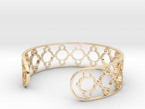 Mandelbrot Uno Bracelet 7in (18cm) in 14k Gold Plated Brass