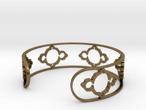 Mandelbrot Light Bracelet 7in (18cm) in Polished Bronze